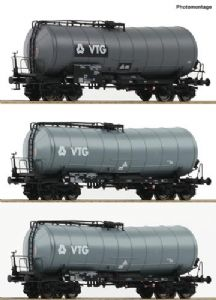 Roco 76126 VTG Bogie Slurry Wagons (x3), Era V [NOT YET RELEASED]